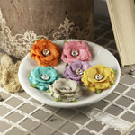 Prima - Solitaire Collection - Fabric Flower Embellishments - Meadow