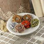 Prima - Solitaire Collection - Fabric Flower Embellishments - Moss