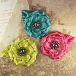 Prima - Miss Kate Collection - Fabric Flower Embellishments - Foxy
