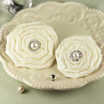 Prima - Coiled Pearls Collection - Fabric Flower Embellishments - Emily