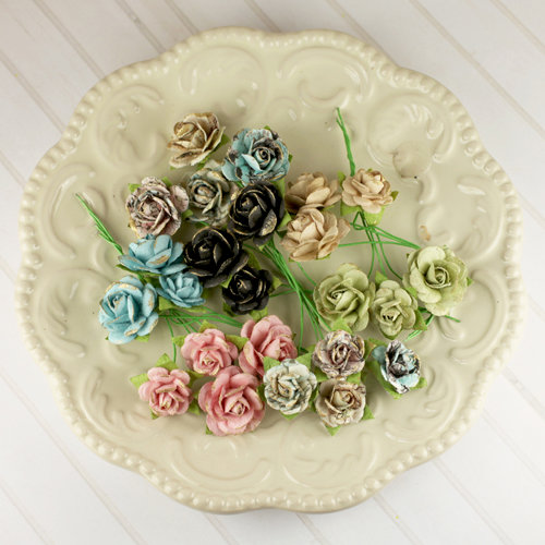 Prima - Avon Rose Collection - Mulberry Flower Embellishments - Pixie Glen