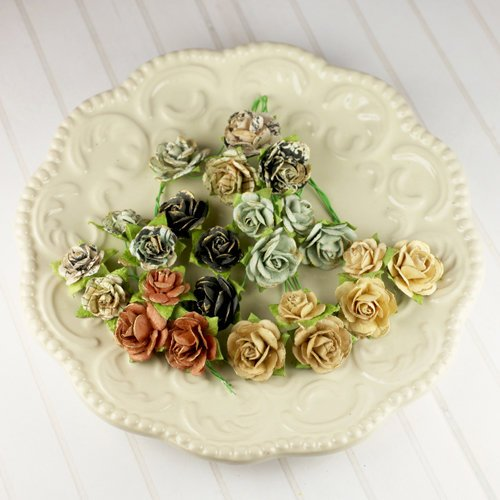 Prima - Avon Rose Collection - Mulberry Flower Embellishments - Printery