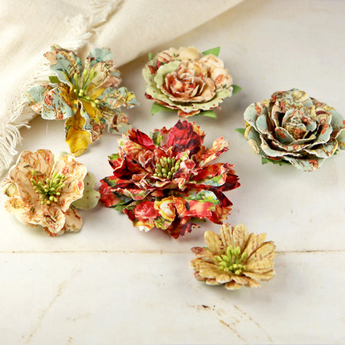 Prima - Jardinere Collection - Mulberry Flower Embellishments - Romantique