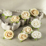 Prima - Sherwood Rose Collection - Mulberry Flower Embellishments - Truffle