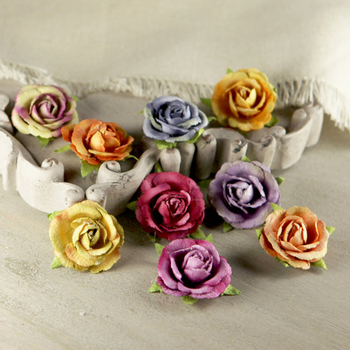 Prima - Sherwood Rose Collection - Mulberry Flower Embellishments - Larkspur