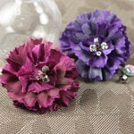 Prima - Carlotta Collection - Fabric Flower Embellishments - Royale