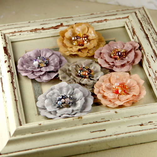 Prima - Ceylon Collection - Fabric Flower Embellishments - Attic