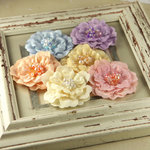 Prima - Ceylon Collection - Fabric Flower Embellishments - Garden