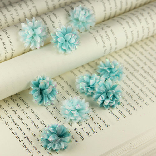 Prima - Gillian Collection - Flower Embellishments - Aqua