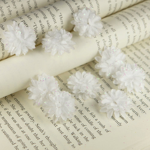 Prima - Gillian Collection - Flower Embellishments - White