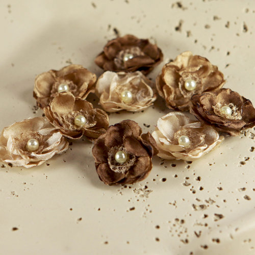Prima - Bristo Blooms Collection - Fabric Flower Embellishments - Woodstock