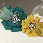 Prima - Gemini Collection - Fabric Flower Embellishments - Ritz