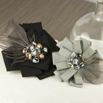 Prima - Gemini Collection - Fabric Flower Embellishments - Twilight