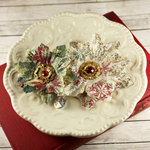 Prima - Holiday Collection - Christmas - Flower Embellishments - Red