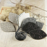 Prima - Vermont Collection - Fabric Leaves Embellishments - Black