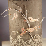 Prima - Tweet Vine Collection - Bird Embellishments - Quail Tendrils