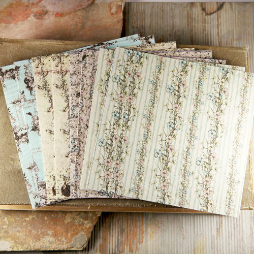 Prima - Pixie Glen Collection - 6 x 6 Mulberry Paper Pack