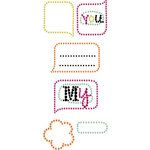 Prima - Say It In Crystals Collection - Self Adhesive Jewel Art - Bling - Doodle-Deux - Mix 2