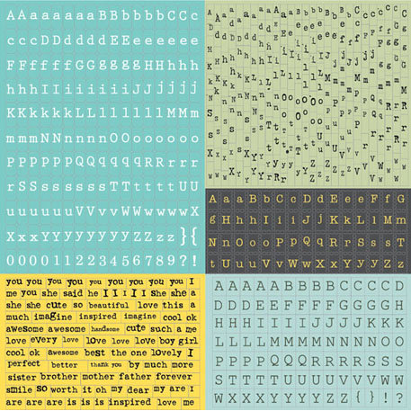 Prima - Sun Kiss Collection - Cardstock Stickers - Alphabet - Typeset