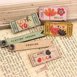 Prima - Doodle-Deux Collection - Wood Embellishments - Tickets