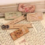 Prima - Songbird Collection - Wood Embellishments - Tickets