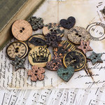 Prima - Almanac Collection - Wood Embellishments - Buttons