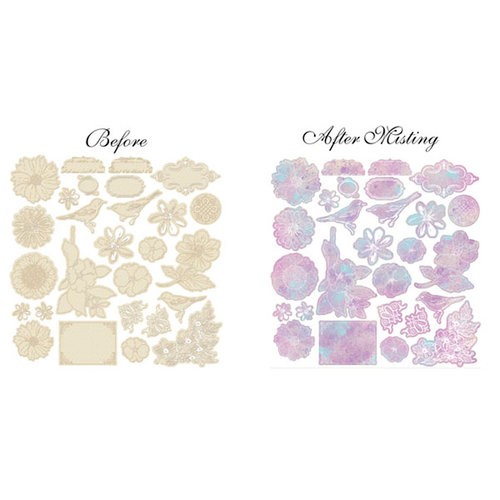 Prima - Meadow Lark Collection - Resist Canvas - Delicate Shapes