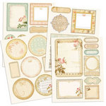 Prima - Songbird Collection - Chipboard Stickers with Glitter Accents