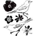 Prima - Meadow Lark Collection - Clear Acrylic Stamps - Mix 2
