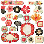 Prima - Doodle-Deux Collection - Chipboard Pieces