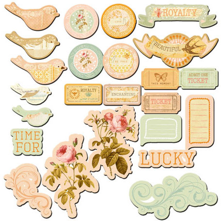 Prima - Songbird Collection - Chipboard Pieces