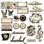 Prima - Almanac Collection - Chipboard Pieces