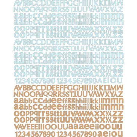 Prima - Fairy Belle Collection - Textured Stickers - Alphabet