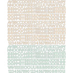 Prima - Songbird Collection - Textured Stickers - Alphabet