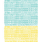 Prima - Sun Kiss Collection - Textured Stickers - Alphabet