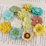 Prima - Perle Bebe Collection - Flower Embellishments - Sun Kiss