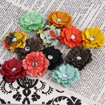Prima - Melisse Collection - Flower Embellishments - Doodle-Deux