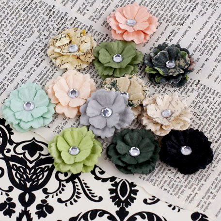 Prima - Melisse Collection - Flower Embellishments - Nature Garden