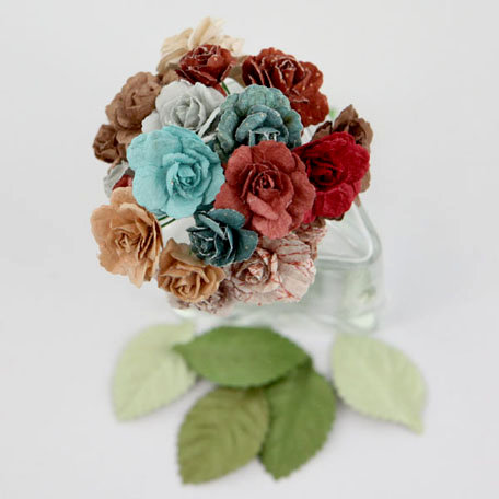 Prima - Charme Rose Collection - Flower Embellishments - En Francais