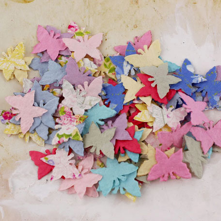 Prima - Flutter Bits Collection - Butterfly Embellishments - Meadow Lark