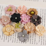 Prima - Perle Bebe Collection - Flower Embellishments - Almanac