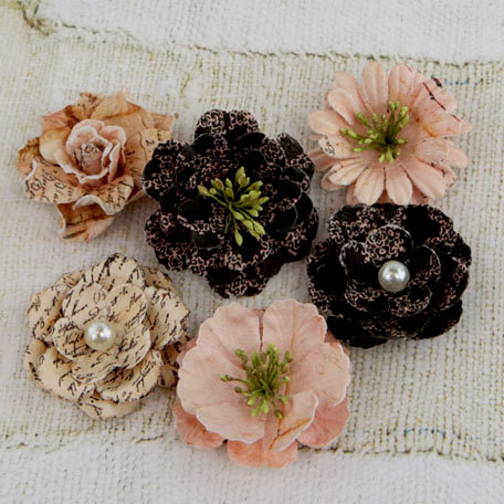 Prima - Vinetta Collection - Flower Embellishments - Almanac