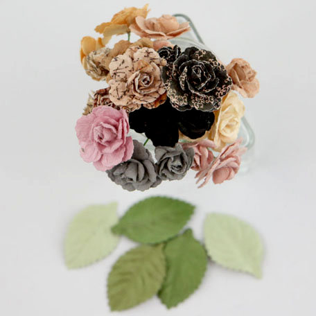 Prima - Charme Rose Collection - Flower Embellishments - Almanac