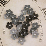 Prima - Velvet Rainbow Collection - Fabric Flower Embellishments - Dove Grey