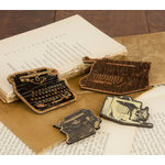 Prima - Wood Embellishments - Type Writer
