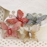 Prima - Mariposa Collection - Fabric Butterfly Embellishments - Marble