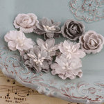 Prima - Miss Godivas Collection - Fabric Flower Embellishments - Pebble