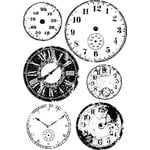 Prima - Cling Mounted Rubber Stamps - Tempus Fugit
