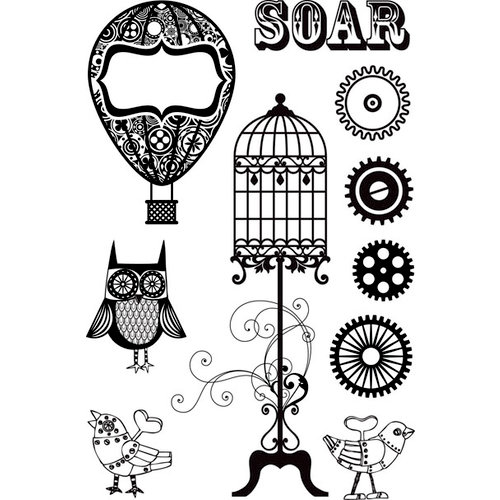 Prima - Cling Mounted Rubber Stamps - Steam Punk