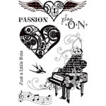 Prima - Cling Mounted Rubber Stamps - Musicale